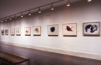 Cleve Gray: Works on Paper 1940-1986. [12/15/1986 - 02/23/1987]. Installation view.