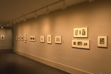 Alone in a Crowd: Prints of the 1930s and 1940s by African-American Artists. [02/25/1996 - 04/22/1996]. Installation view.