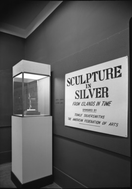 Sculpture in Silver from Islands in Time, September 14, 1955 through October 16, 1955 (Image: PHO_E1955i009.jpg Brooklyn Museum photograph, 1955)