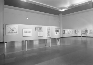 Golden Years of American Drawings, 1905-1956, January 22, 1957 through March 17, 1957 (Image: PHO_E1957i007.jpg Brooklyn Museum photograph, 1957)