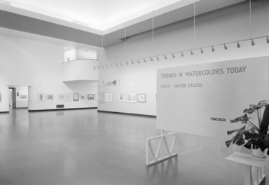 International Watercolor Exhibition, 19th Biennial, Trends in Watercolor Today, April 09, 1957 through May 26, 1957 (Image: PHO_E1957i018_SL1.jpg Brooklyn Museum photograph, 1957)