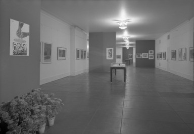 Exhibition of Works by Antonio Frasconi, 1944-1964. [10/14/1964 - 11/29/1964]. Installation view: prints, books.