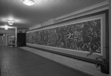 Woodcut Screens of Shiko Munakata, January 09, 1968 through February 18, 1968 (Image: PHO_E1968i003.jpg Brooklyn Museum photograph, 1968)