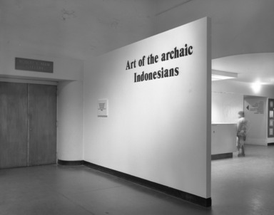 Art of the Archaic Indonesians, November 07, 1981 through January 31, 1982 (Image: PHO_E1981i077.jpg Brooklyn Museum photograph, 1981)