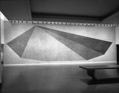 Pyramid, a Wall Drawing by Sol LeWitt, May 16, 1985 through September 02, 1985 (Image: PHO_E1985i050.jpg Brooklyn Museum photograph, 1985)