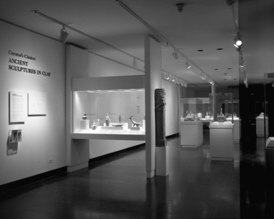 Curator's Choice: Ancient Sculptures in Clay. [12/11/1985 - 03/24/1986]. Installation view: Lobby gallery.