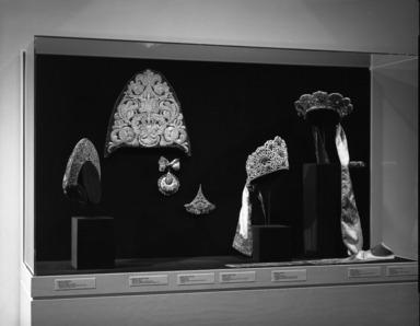 Curator's Choice: Pearls Among the Gold: Russian Women's Festive Dress, February 25, 1987 through June 29, 1987 (Image: PHO_E1987i010.jpg Brooklyn Museum photograph, 1987)