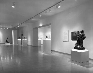 Rodin: The Cantor Gift to The Brooklyn Museum. [11/--/1987 - 01/--/1988]. Installation view: Monument to Balzac.