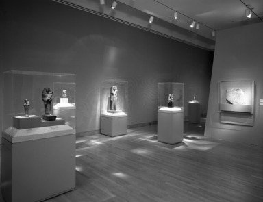 Mistress of the House, Mistress of Heaven: Women in Ancient Egypt. [02/21/1997 - 05/18/1997]. Installation view: leonine and feline goddesses.