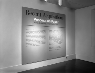 Process on Paper: Recent Acquisitions, June 07, 1997 through September 08, 1997 (Image: PHO_E1997i039.jpg Brooklyn Museum. Justin van Soest,er photograph, 1997)