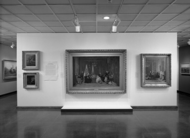 Eastman Johnson: Painting America. [10/29/1999 - 02/06/2000]. Installation view: the triumph of domestic sentiment.