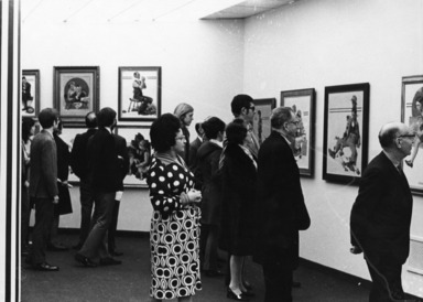 Norman Rockwell: A Sixty Year Retrospective. [03/22/1972 - 05/14/1972]. Installation view.