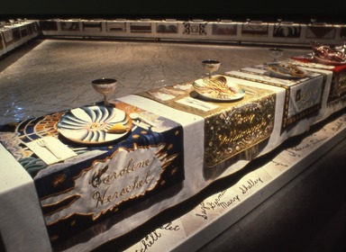Judy Chicago: The Dinner Party, October 18, 1980 through February 01, 1981 (Image: PSC_E1980i009.jpg Brooklyn Museum photograph, 1980)