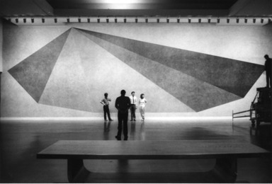 Pyramid, a Wall Drawing by Sol LeWitt, May 16, 1985 through September 02, 1985 (Image: PSC_E1985i092.jpg Brooklyn Museum photograph, 1985)