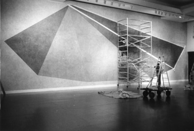 Pyramid, a Wall Drawing by Sol LeWitt, May 16, 1985 through September 02, 1985 (Image: PSC_E1985i093.jpg Brooklyn Museum photograph, 1985)