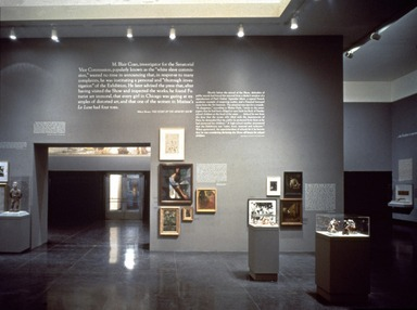 The Brooklyn Museum Collection: The Play of the Unmentionable (Joseph Kosuth), September 27, 1990 through 1990 (date unknown) (Image: PSC_E1990i010_SL3.jpg Brooklyn Museum.  ? Joseph Kosuth, courtesy of the artist and Sean Kelly Gallery. photograph, 1990)