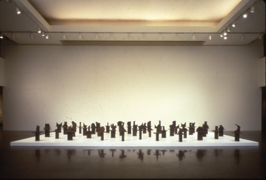Alain Kirili: Commandment, September 21, 1991 through January 05, 1992 (Image: PSC_E1991i017.jpg Brooklyn Museum photograph, 1991)