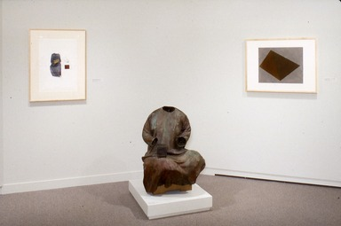 The Second Dimension: Twentieth-Century Sculptors' Drawings from The Brooklyn Museum. [06/25/1993 - 09/19/1993]. Installation view: 'Dog Catcher (Levitation)' and 'Untitled,' 1987. Al Taylor. Gifts of Susan Lorence.