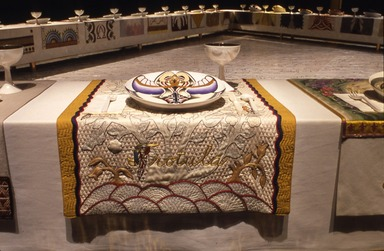 Judy Chicago: The Dinner Party. [09/20/2002 - 02/09/2003]. Installation view.