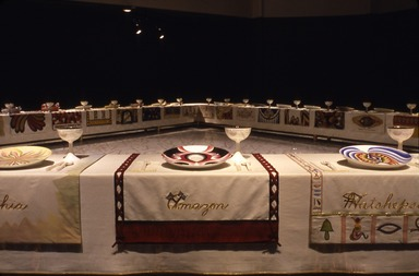 Judy Chicago: The Dinner Party, September 20, 2002 through February 09, 2003 (Image: PSC_E2002i031.jpg Brooklyn Museum photograph, 2002)