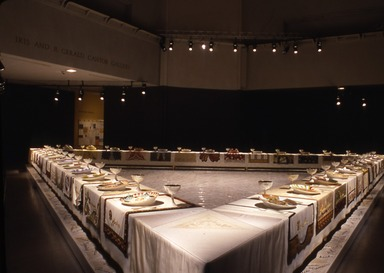 Judy Chicago: The Dinner Party, September 20, 2002 through February 09, 2003 (Image: PSC_E2002i033.jpg Brooklyn Museum photograph, 2002)