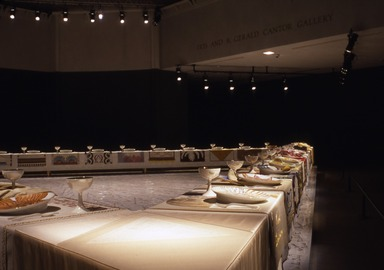 Judy Chicago: The Dinner Party, September 20, 2002 through February 09, 2003 (Image: PSC_E2002i035.jpg Brooklyn Museum photograph, 2002)