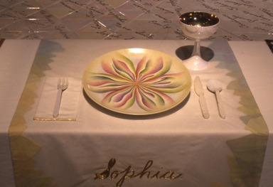 Judy Chicago: The Dinner Party, September 20, 2002 through February 09, 2003 (Image: PSC_E2002i047.jpg Brooklyn Museum photograph, 2002)