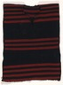 Child's Red and Blue Striped Poncho (Kesh-chin-nai)