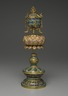 Buddhist Ritual Object in Form of a Canopy on Lotus Base