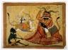Durga Slaying the Buffalo Demon, Raktabij, and Kali Lapping up the Demon's Blood, Page from a Markandeya Purana Series
