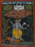 Varaha Rescuing the Earth, page from an illustrated Dasavatara series