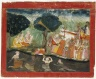 Krishna and Balarama on Their way to Mathura, Folio from a Dispersed Bhagavata Purana Series