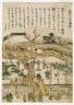 Temmangu Shrine at Kameido, from an untitled series of Famous Places in Edo