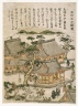 Temple of the Five Hundred Rakan, from an untitled series of Famous Places in Edo