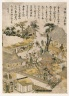 Asakusa Temple at Kinryusan, from an untitled series of Famous Places in Edo