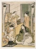 Scene at a Dyer's Shop, from The Tale of Shiraishi, a Latter-day Taiheiki
