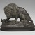 Antoine-Louis Barye (French, 1795-1875). <em>Lion Crushing a Snake</em>. Bronze, With base: 10 1/2 x 8 x 13 1/2 in. (26.7 x 20.3 x 34.3 cm). Brooklyn Museum, Purchased by Special Subscription, 10.178. Creative Commons-BY (Photo: Brooklyn Museum, 10.178_front_PS2.jpg)