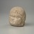 Roman. <em>Male Portrait Head</em>, 4th century C.E. (probably). Marble, 4 1/8 x 3 1/4 x 2 15/16 in. (10.5 x 8.3 x 7.5 cm). Brooklyn Museum, Gift of Evangeline Wilbour Blashfield, Theodora Wilbour, and Victor Wilbour honoring the wishes of their mother, Charlotte Beebe Wilbour, as a memorial to their father, Charles Edwin Wilbour, 16.239. Creative Commons-BY (Photo: Brooklyn Museum, 16.239_threequarter.jpg)