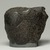 Egyptian. <em>Fragment from Statue of Montuemhat</em>, ca. 1075-656 B.C.E. Granite, 5 1/2 × 7 × 4 in. (14 × 17.8 × 10.2 cm). Brooklyn Museum, Gift of Evangeline Wilbour Blashfield, Theodora Wilbour, and Victor Wilbour honoring the wishes of their mother, Charlotte Beebe Wilbour, as a memorial to their father, Charles Edwin Wilbour, 16.580.186. Creative Commons-BY (Photo: Brooklyn Museum, 16.580.186_front_PS11.jpg)