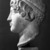 Roman. <em>Head, Apollo of the Omphalos</em>, 1st century C.E. copy of a 480 B.C.E. original. Marble, 12 11/16 x 7 5/8 in. (32.3 x 19.3 cm). Brooklyn Museum, Purchased with funds given by A. Augustus Healy and Robert B. Woodward Memorial Fund, 18.166. Creative Commons-BY (Photo: Brooklyn Museum, 18.166_NegL_bw_SL4.jpg)