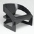 Joe Colombo (Italian, 1930-1971). <em>Armchair (Model 4801/5)</em>, Designed 1965; Manufactured 1965-1971. Bent plywood, paint, gesso, rubber stoppers, 23 1/8 x 27 7/8 x 25 1/8in. (58.7 x 70.8 x 63.8cm). Brooklyn Museum, Designated Purchase Fund, 1991.146. Creative Commons-BY (Photo: Brooklyn Museum, 1991.146_threequarter_PS2.jpg)