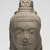 <em>Head of a Male Deity</em>, 540-600 C.E. Gray sandstone, 10 x 5 3/4 x 6 1/2 in. Brooklyn Museum, Gift of Georgia and Michael de Havenon, 1996.210.3. Creative Commons-BY (Photo: Brooklyn Museum, 1996.210.3_overall_PS11.jpg)