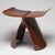 Yanagi Sori (Japanese, 1915 - 2011). <em>Butterfly Stool</em>, 1954 (designed). Rosewood veneer on plywood, brass, metal, 15 x 16 7/8 x 12 1/8 in. (38.1 x 42.9 x 30.8 cm). Brooklyn Museum, Alfred T. and Caroline S. Zoebisch Fund, 1997.67.1. Creative Commons-BY (Photo: , 1997.67.1_threequarter_PS9.jpg)