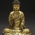 <em>Seated Buddha Shakyamuni</em>, 965 or 1025. Gilt bronze, 8 1/2 x 7 1/4 x 4 3/4 in. (21.6 x 18.4 x 12.1 cm). Brooklyn Museum, Gift of the Asian Art Council in memory of Mahmood T. Diba and Mary Smith Dorward Fund, 1999.42. Creative Commons-BY (Photo: Brooklyn Museum, 1999.42_SL1.jpg)