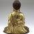 <em>Seated Buddha Shakyamuni</em>, 965 or 1025. Gilt bronze, 8 1/2 x 7 1/4 x 4 3/4 in. (21.6 x 18.4 x 12.1 cm). Brooklyn Museum, Gift of the Asian Art Council in memory of Mahmood T. Diba and Mary Smith Dorward Fund, 1999.42. Creative Commons-BY (Photo: Brooklyn Museum, 1999.42_back_SL4.jpg)