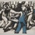 John Wilson (American, born 1922). <em>Mann Attacked</em>, 2001. Etching, Sheet: 11 3/4 x 15 7/8 in. (29.8 x 40.3 cm). Brooklyn Museum, Emily Winthrop Miles Fund, 2002.74.8. © artist or artist's estate (Photo: Brooklyn Museum, 2002.74.8_PS11.jpg)