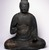 <em>Figure of Seated Buddha</em>, 794-1185. Wood, crystal, 34 1/2 x 29 1/2 x 21 1/2 in. (87.6 x 74.9 x 54.6 cm). Brooklyn Museum, The Peggy N. and Roger G. Gerry Collection, 2004.28.207. Creative Commons-BY (Photo: Brooklyn Museum, 2004.28.207_front.jpg)