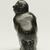 Elisapi Qumaluk (born 1927). <em>Kneeling Figure</em>, 1950-1980. Gray stone, 4 x 2 1/8 x 1 5/8 in. (10.2 x 5.4 x 4.1 cm). Brooklyn Museum, Hilda and Al Schein Collection, 2004.79.12. Creative Commons-BY (Photo: Brooklyn Museum, 2004.79.12_back_PS11.jpg)