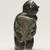 Elisapi Qumaluk (born 1927). <em>Kneeling Figure</em>, 1950-1980. Gray stone, 4 x 2 1/8 x 1 5/8 in. (10.2 x 5.4 x 4.1 cm). Brooklyn Museum, Hilda and Al Schein Collection, 2004.79.12. Creative Commons-BY (Photo: Brooklyn Museum, 2004.79.12_front_PS11.jpg)
