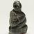Elisapi Qumaluk (born 1927). <em>Kneeling Figure</em>, 1950-1980. Gray stone, 4 x 2 1/8 x 1 5/8 in. (10.2 x 5.4 x 4.1 cm). Brooklyn Museum, Hilda and Al Schein Collection, 2004.79.12. Creative Commons-BY (Photo: Brooklyn Museum, 2004.79.12_threequarter_left_PS11.jpg)